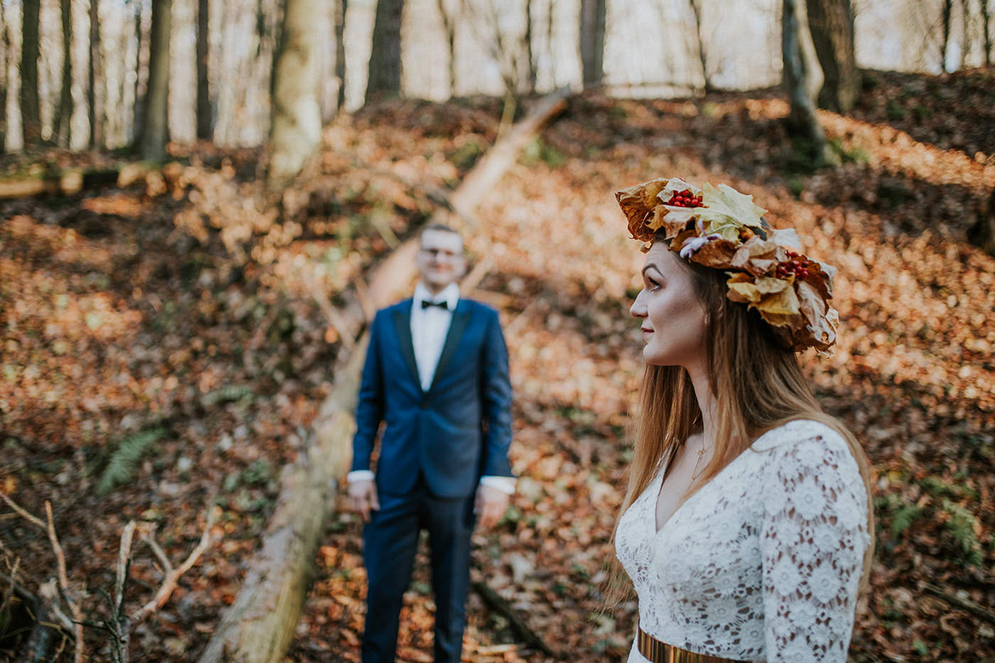 Polish wedding photographer autumn gold
