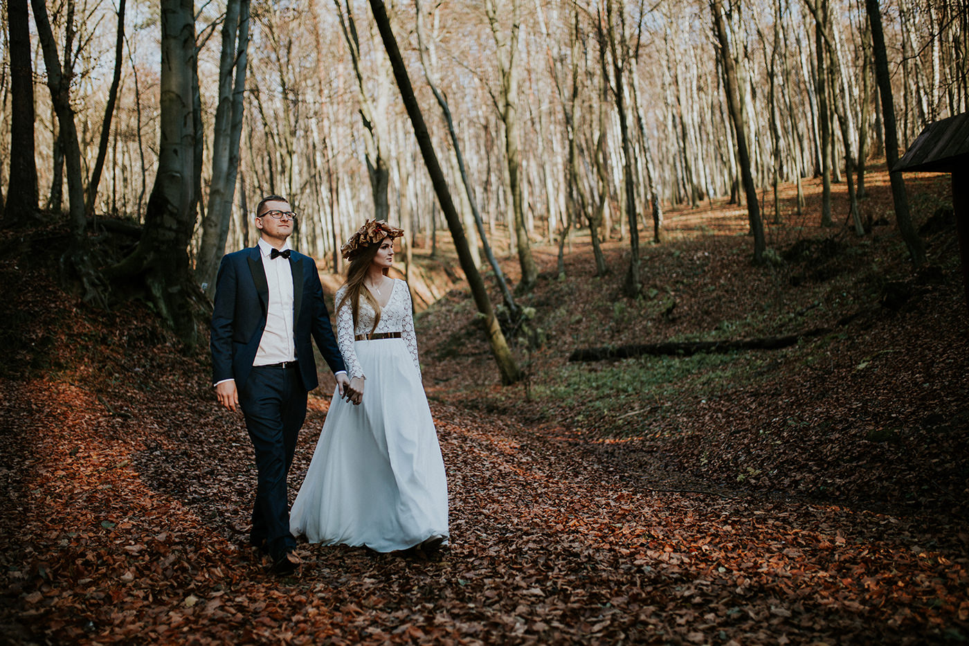 forest wedding session