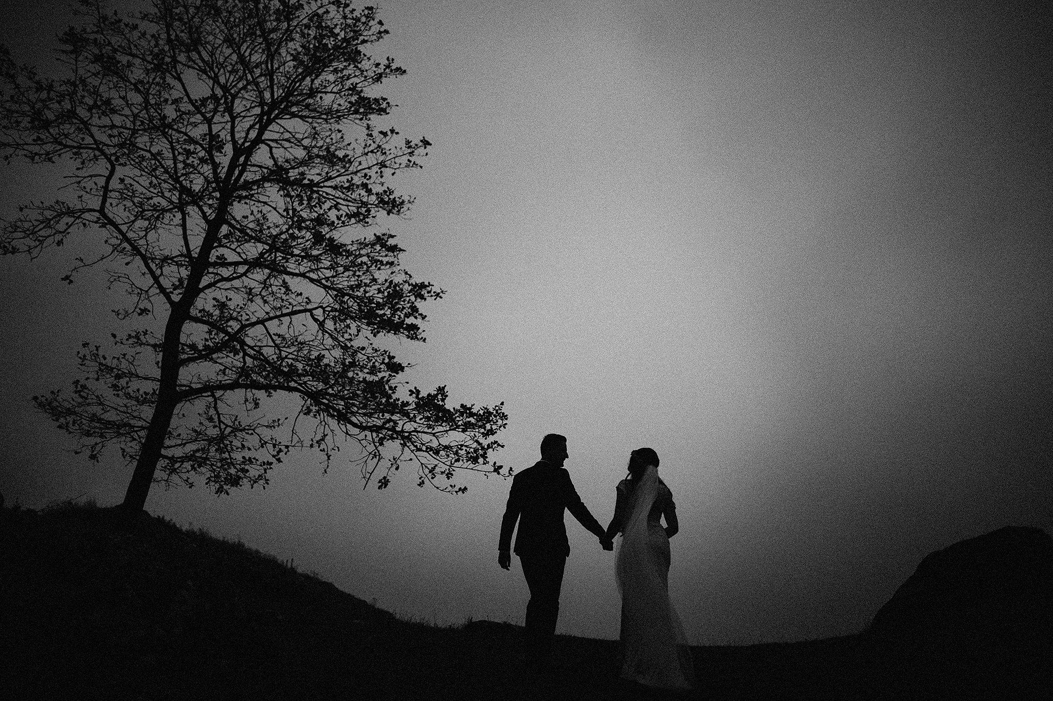 góra zborów - sesja ślubna