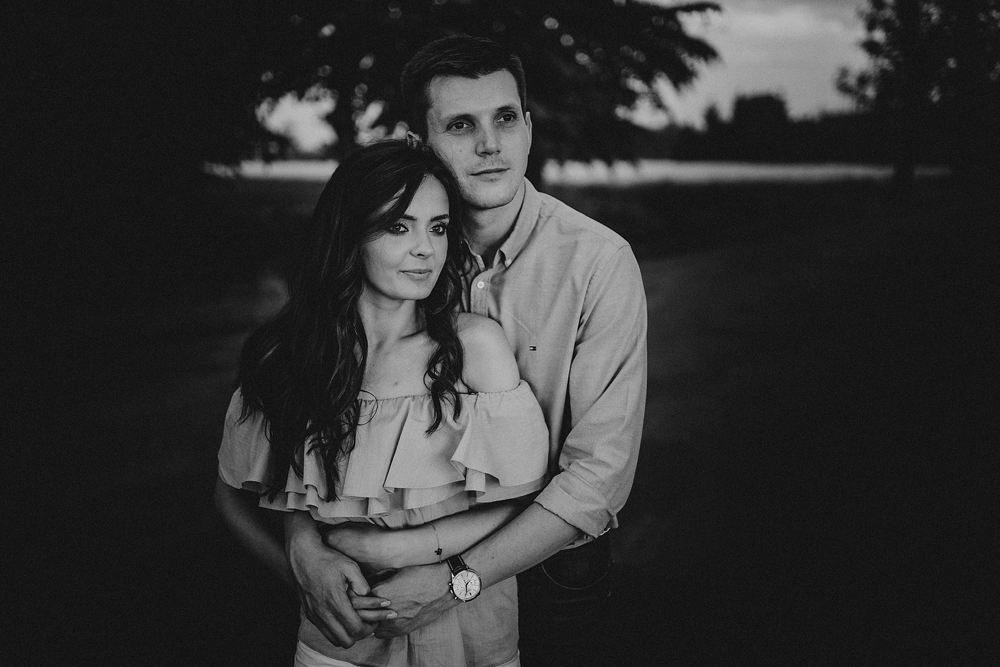 sunset engagement session photography
