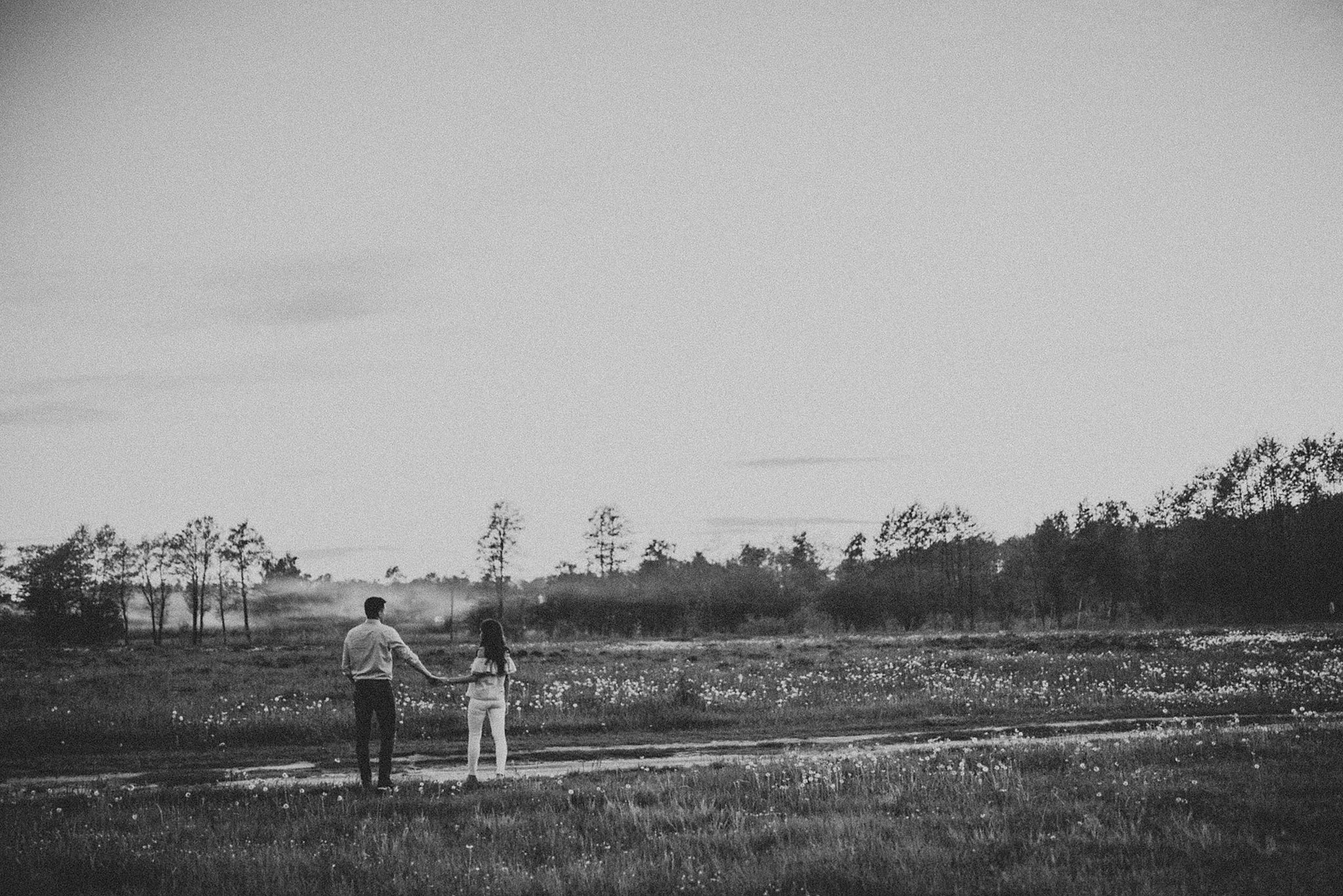 sunset engagement session chełm