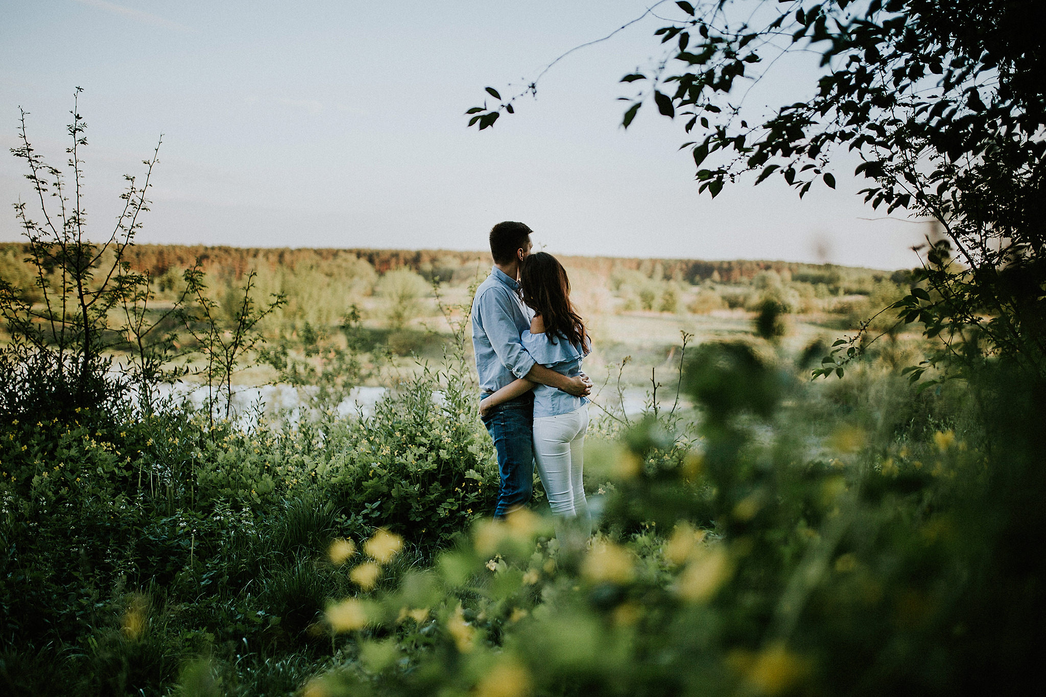 romantic engagement session Poland