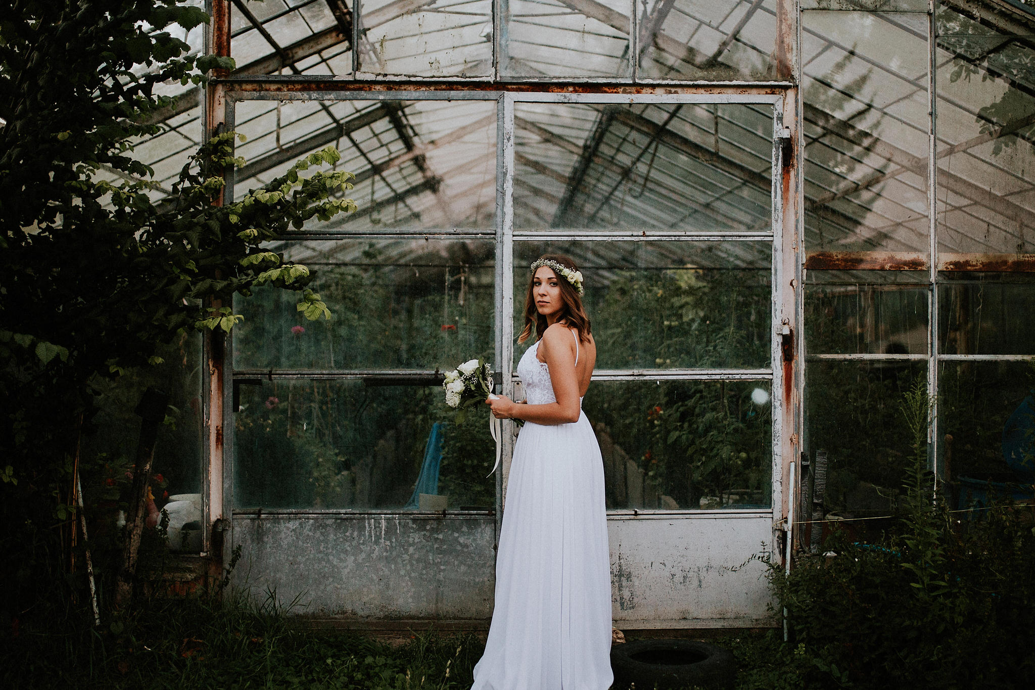 rustic bridal session poland