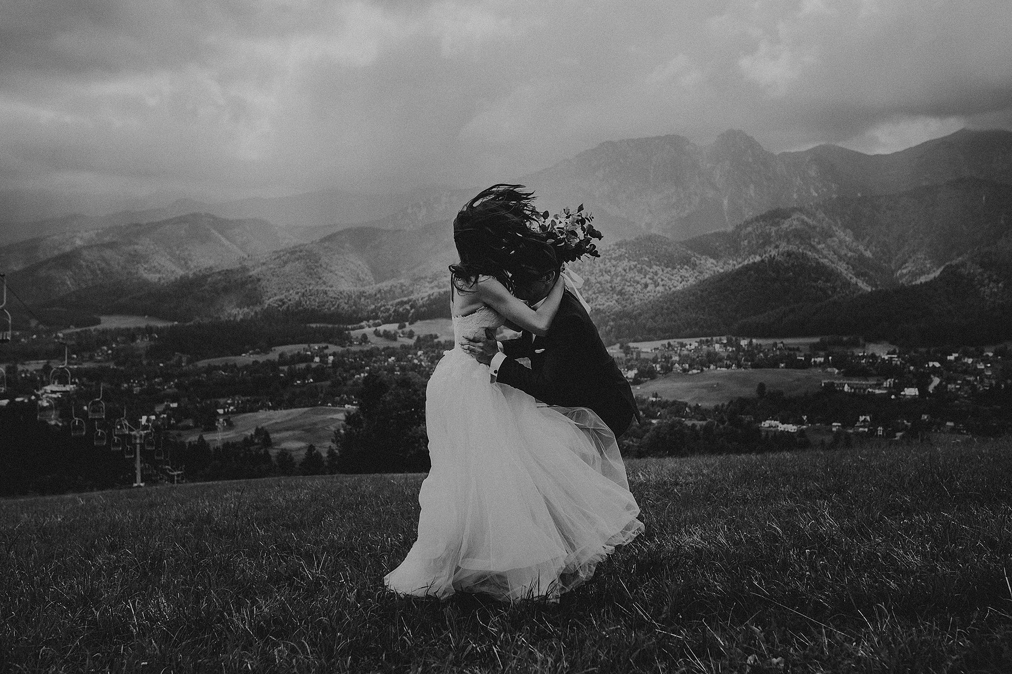 bridal session in tatra mountains
