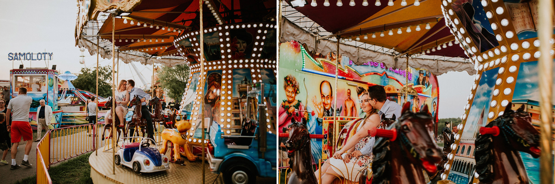 engagement photos at lunapark krakow
