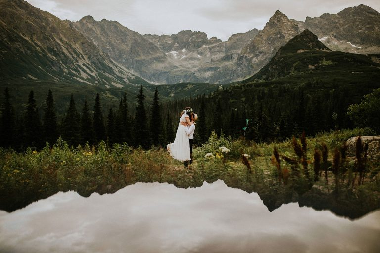 boho wedding photo session in the Polish Tatras
