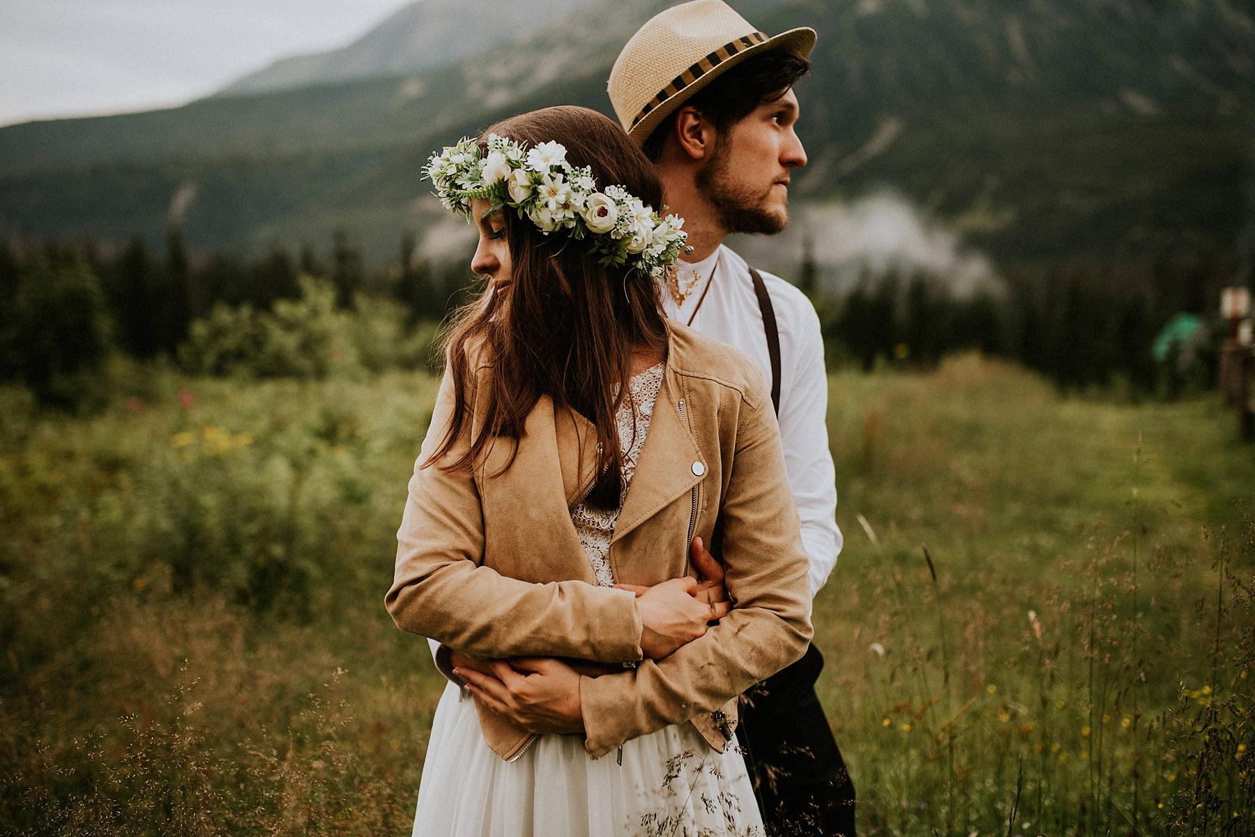 boho sesja poślubna tatry