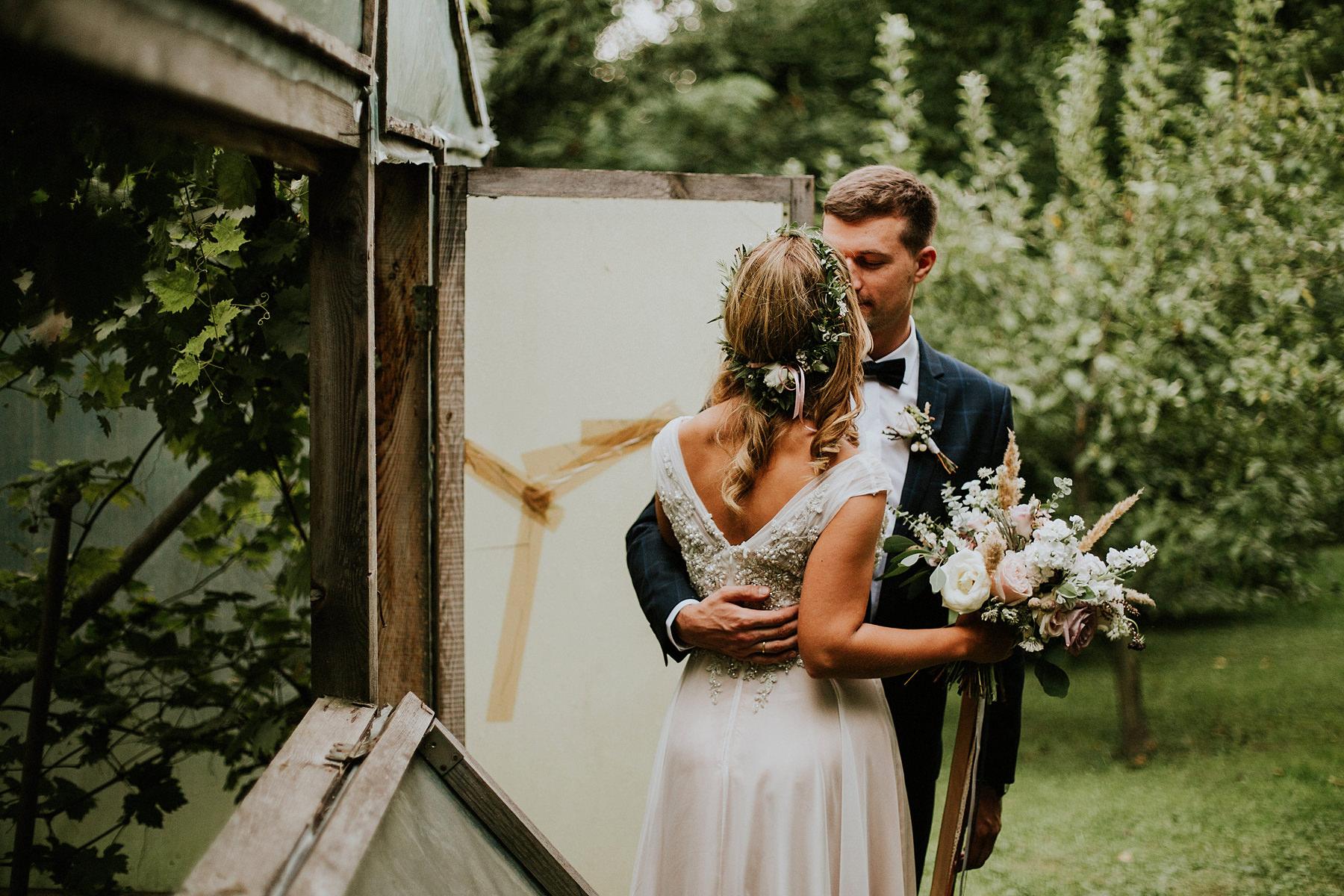 sesja ślubna szklarnia zamość