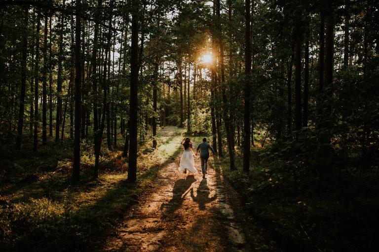 sesja poślubna w lesie kaszuby