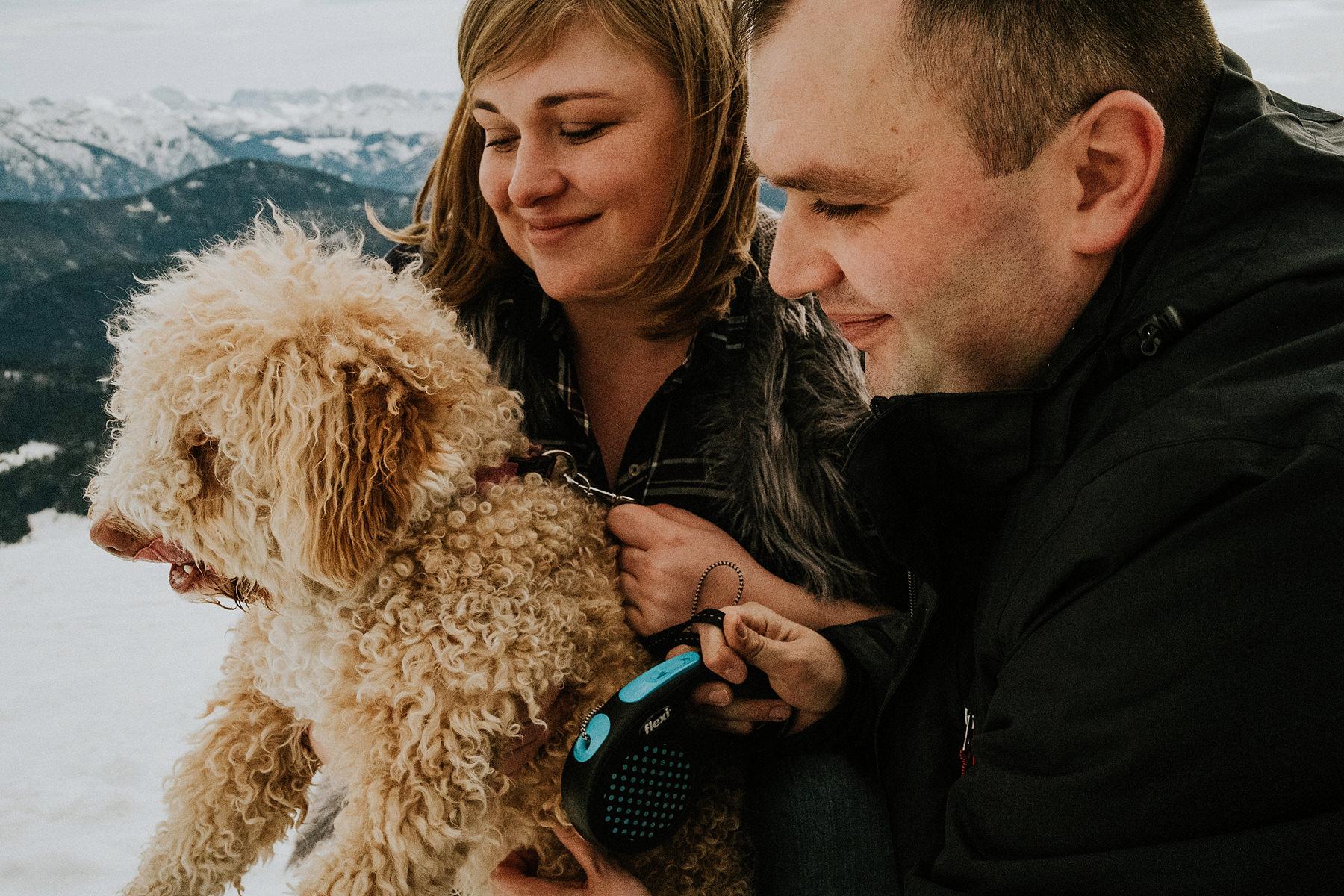 sesja ciążowa z psem