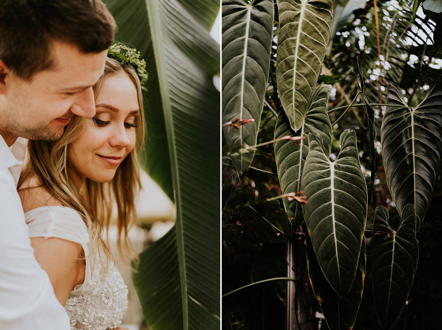 sesja ślubna w ogrodzie botanicznym krakow