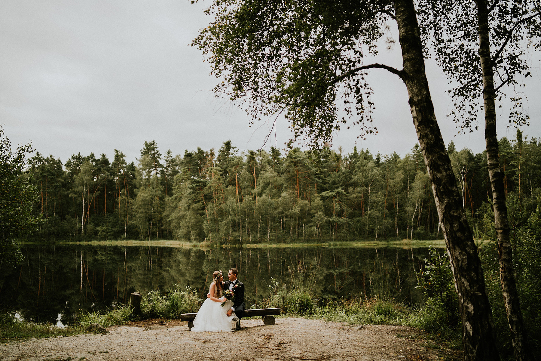Forest wedding photosession krakow