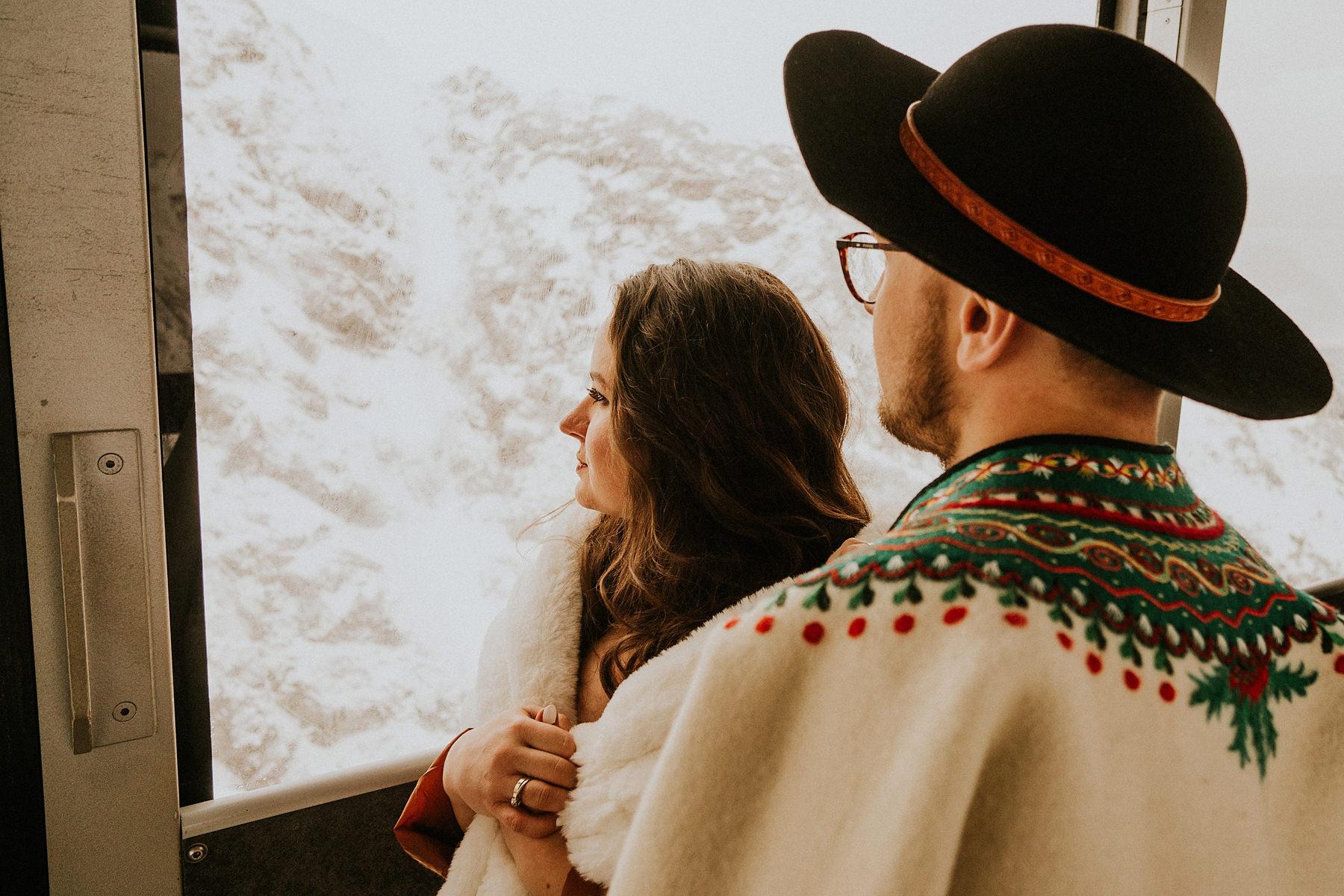 kolejka na kasprowy wierch sesja ślubna
