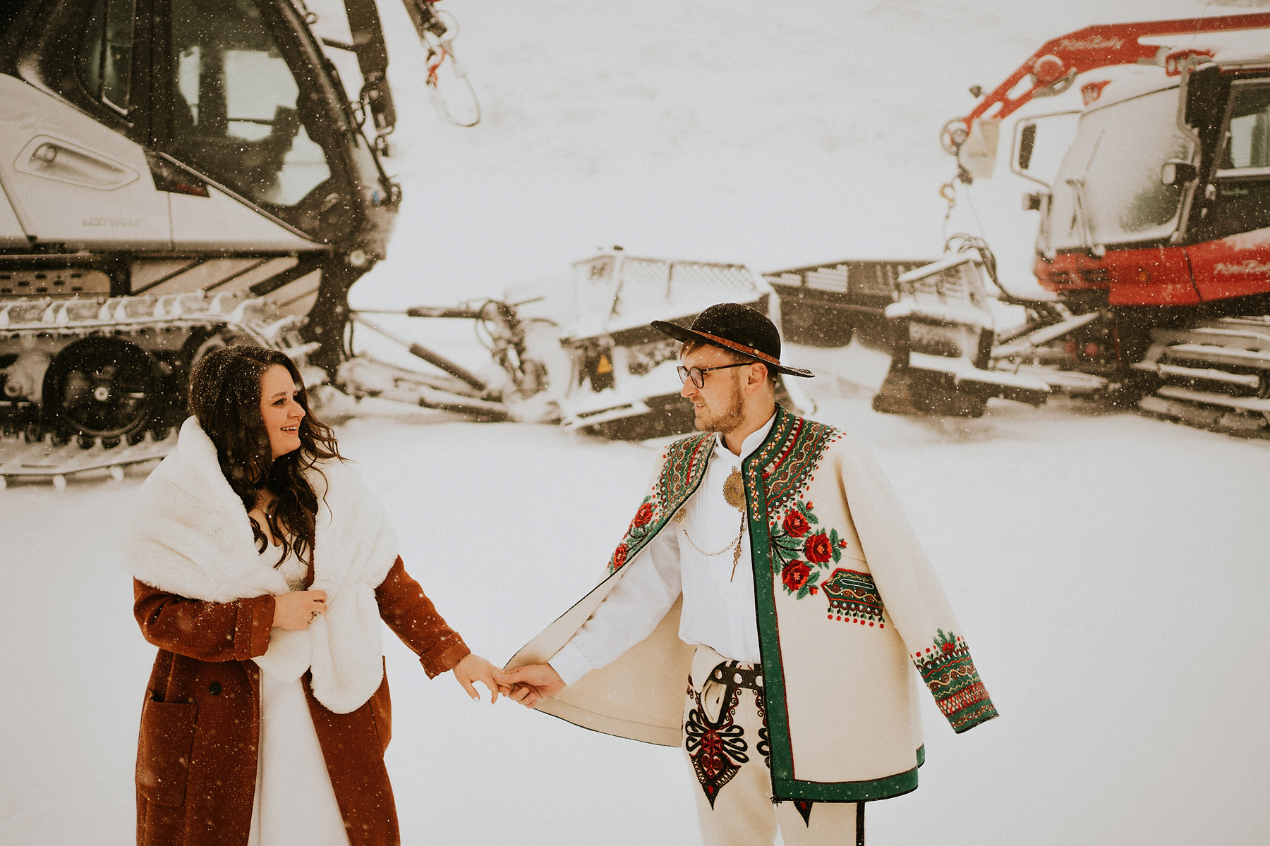góralska sesja zdjęciowa zimą
