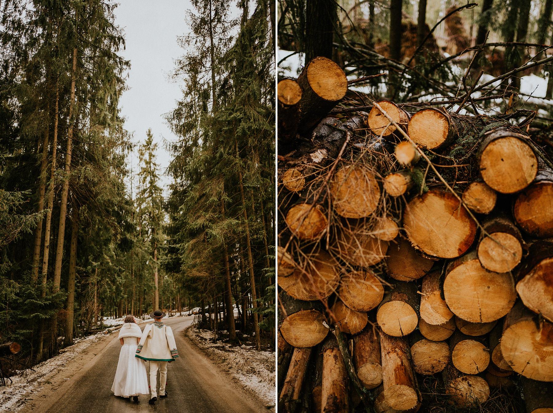 strój góralski ślubny