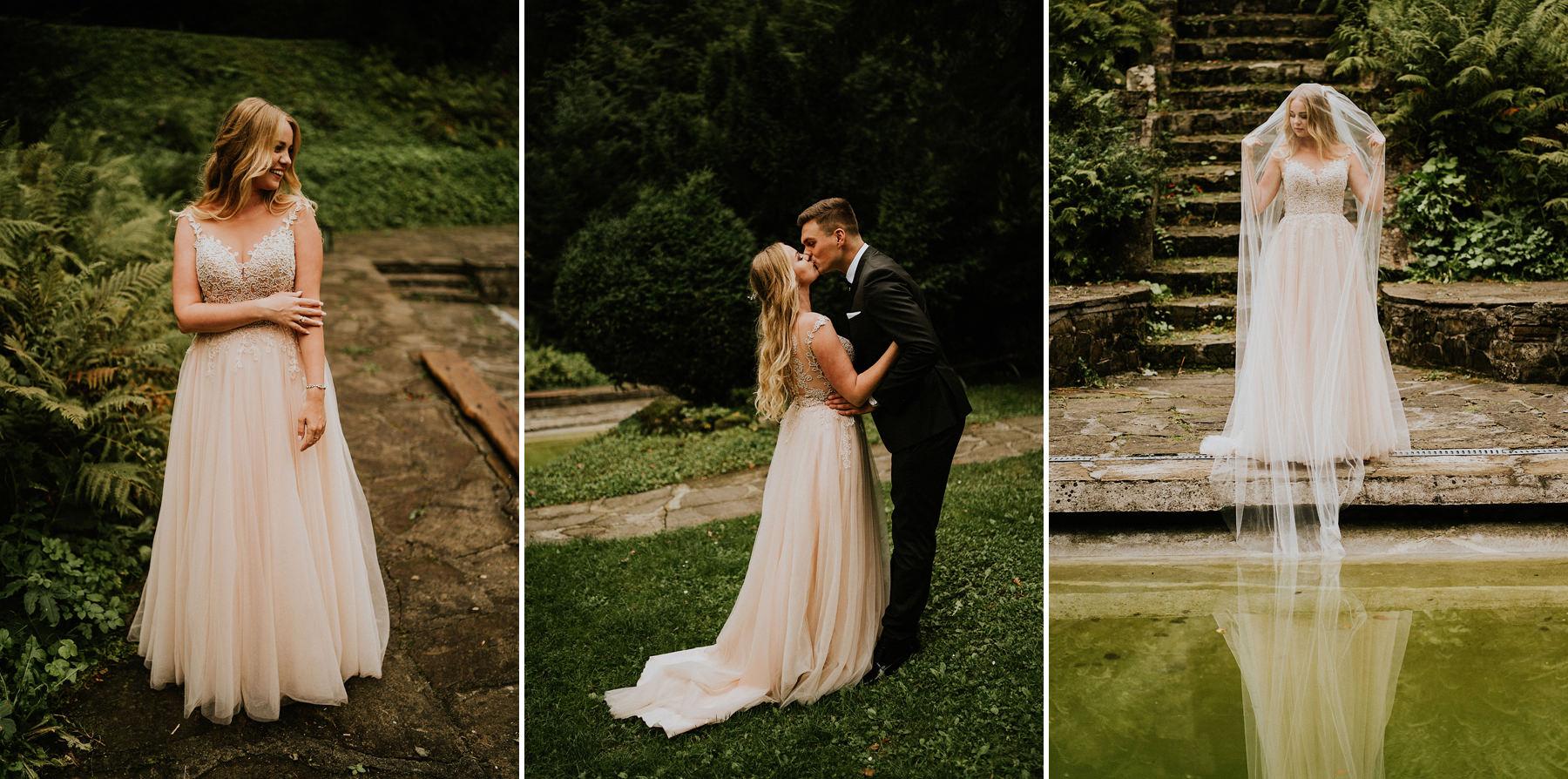 sesja poślubną lanckorona willa