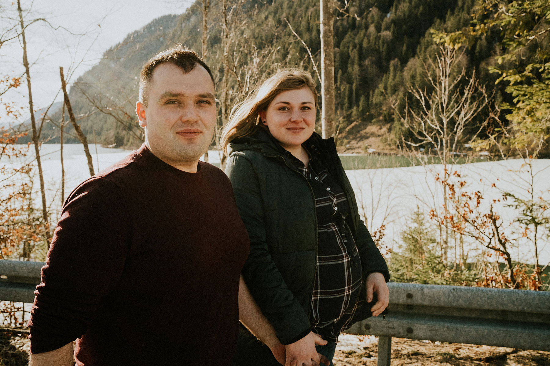 Pregnancy session in the mountains