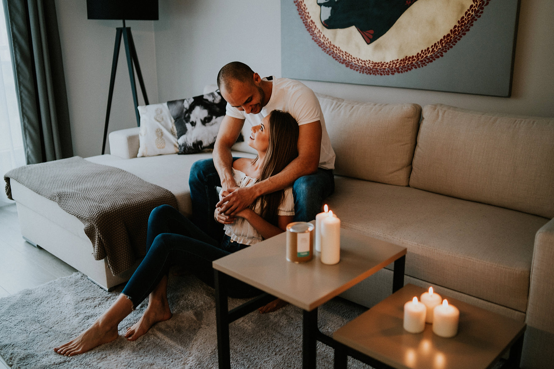Intimate photo session in an apartment in Krakow