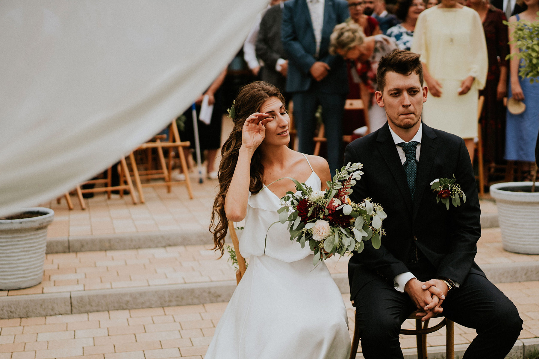 first look during wedding day